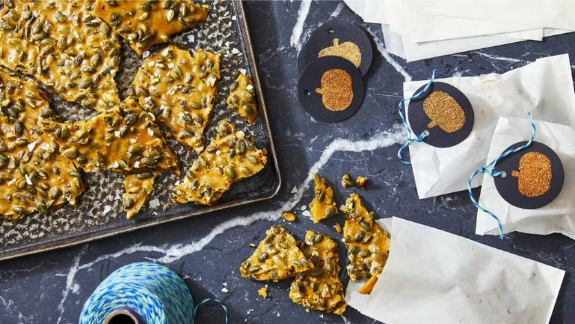 Rosemary Pumpkin Seed Brittle